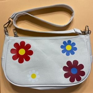 Retro Daisy Baguette Handbag